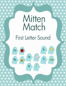 Mitten Match - First Letter Sound