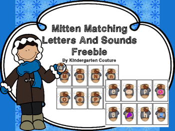Mitten Match Letters and Sounds -Freebie