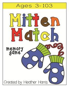 Mitten Match Memory Game