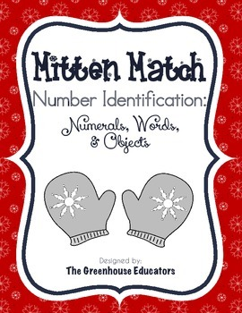 Winter Mitten Matching Activity: Numerals, Number Words, and Objects