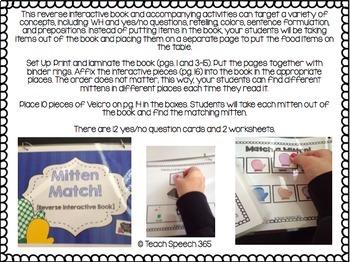 Mitten Match Reverse Interactive Book