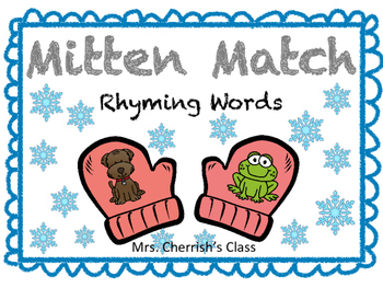 Mitten Match Rhyming Words