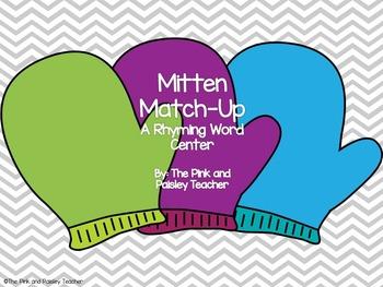 Mitten Match Up: A Rhyming Word Center