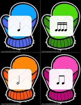 Mitten Match Up: Music Symbol Memory Game