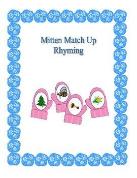 Mitten Match Up: Rhyming