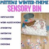 Mitten Match Up Winter Sensory Bin For Articulation, Language & Social Skills
