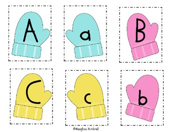 Mitten Match:  Uppercase and Lowercase Letters