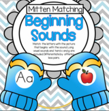 Mittens Matching Beginning Sounds to Pictures, Full Alphabet