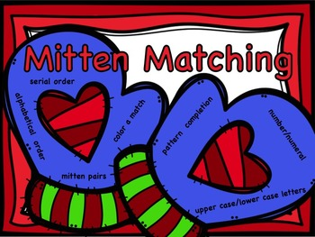 Mitten Matching: Pattern Completion, Number/Numeral, Upper/Lower Case, ABC Order
