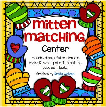 Mitten Matching  - Pattern Pairs FREE