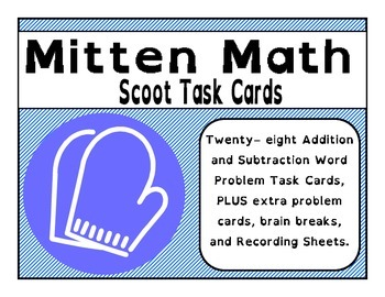 Mitten Math - Addition and Subtraction Scoot Task Cards