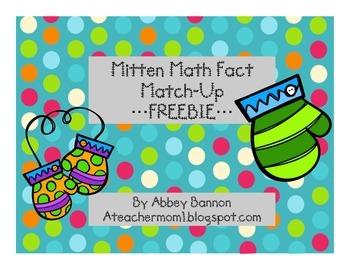 Mitten Math Fact Match-Up - FREEBIE