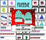 Mitten Math Freebie-Skip Counting Coins Task Cards/Center
