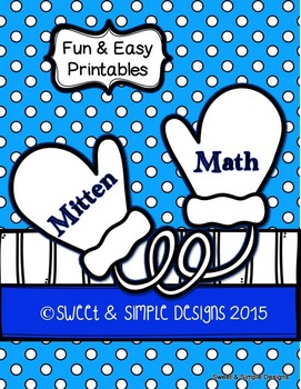 Mitten Math Fun and Easy Printables
