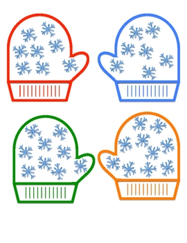 Mitten Math Hunt-A Winter Independent Math Center-Match Number to Set