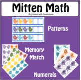 Mitten Math Madness: Winter math centers with patterns, adding to 10, memory
