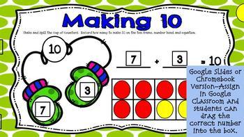 Mitten Math Making 10- A Digital Math Center for Kindergarten and 1st Grade