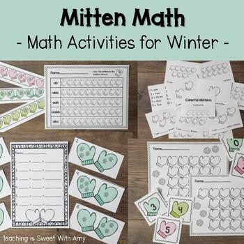 Mitten Math - Math activities for Winter