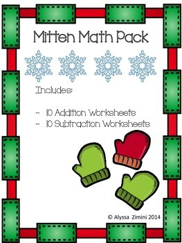 Mitten Math Worksheet Pack