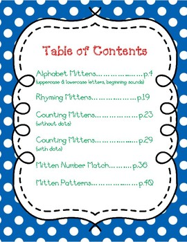 Mitten Math and Literacy Centers