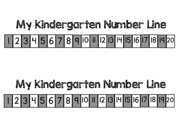 Mitten Math with Number Line