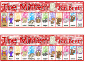 Mitten Mischief! {reading, retelling & writing for The Mitten by Jan Brett}
