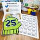 Mitten Number Dough Mats - Kindergarten Math Center