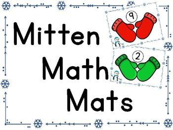 Mitten Number Mats- Fine motor skills