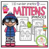 Mitten Number Practice 1-10 No Prep