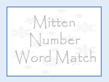 Mitten Number Word Match