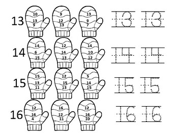 Mitten Numbers 1-20