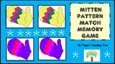 Mitten Pattern Match Memory Game