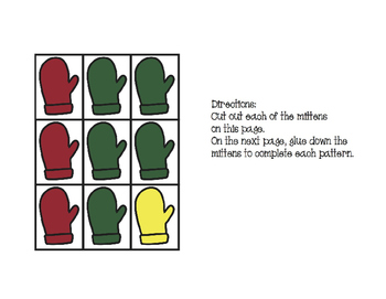 Mitten Pattern Practice Freebie