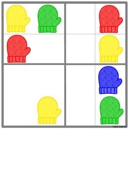 Mitten Centers Winter Centers Activities Patterns Sudoku Games Math