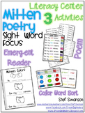 Mitten Poetry Work Station {Sight Word Focus / Color Words} 3LiteracyActivities