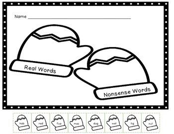 Mitten Real and Nonsense Word Sort