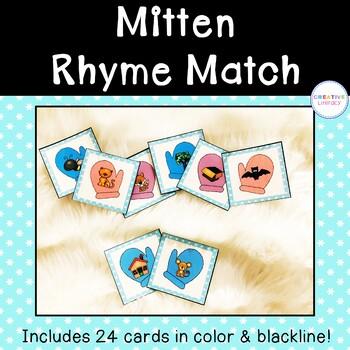Mitten Rhyme Match Cards