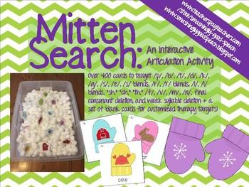 Mitten Search Interactive Articulation Activity!