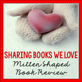 Mitten Shaped Book Review for a Recommendation Wall