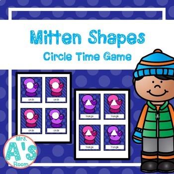Mitten Shapes Circle Time Game