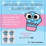 Winter  Literacy: Mitten Sight Word Activities, Mitten Sight word Flash Cards