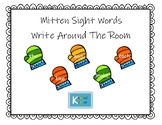 Mitten Sight Word Write Around The Room- Fry's First 100