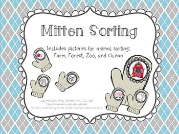 The Mitten Sorting {FREEBIE} – Winter Themed Animal Sorting Activity