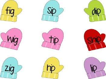 Mitten Theme Short Vowel Word Family Sorts
