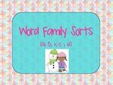 Mitten Theme Short Vowel Word Family Sorts