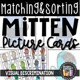 Matching & Sorting Cards: Mitten Theme, Early Literacy & Math