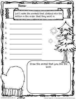 Mitten Unit Activities for Primary Grades with CCSS