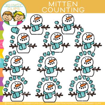 Mitten Winter Counting Clip Art