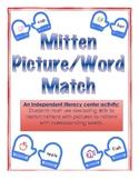 Mitten Word/Picture Match-Winter Independent Literacy Center(decoding)