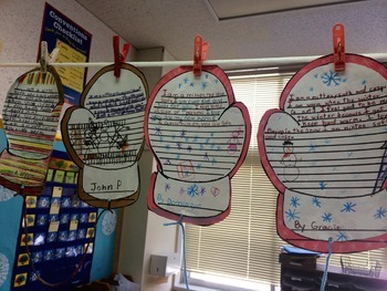 Mitten Writing Activity